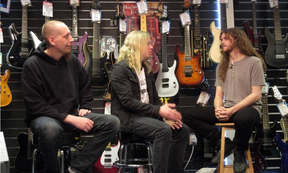 Sam Interviewing Jeff Loomis and Keith Merrow for Guitar Interactive Magazine