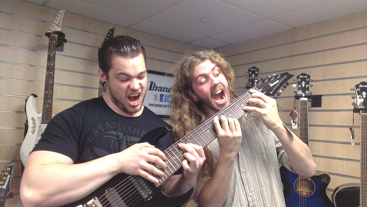 Reece and I trying out the RG9