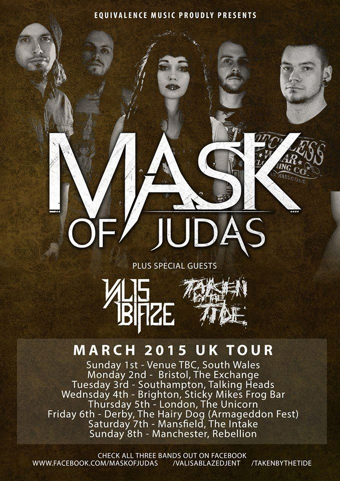 Mask of Judas Tour